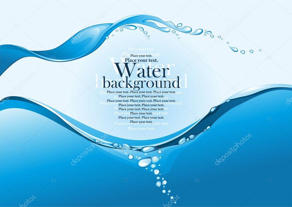 Water Splash Background Stock Vector 169 Ragneda 13757852