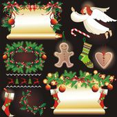 Christmas collection. Vector Illustration. — Stock Vector