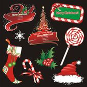 Christmas banners and design elements. — Stock Vector