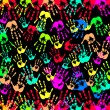Multicolored art from Hand prints — Stock Photo