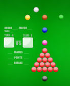 Snooker game — Stock Photo