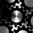 Steel texture with Gears design — Stock Photo