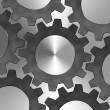 Steel texture with Gears design — Stock Photo #30079215