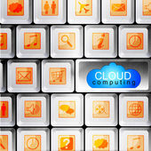 Cloud Computing design — Stock Photo