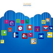 Cloud vector design — Stock Vector