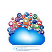 Nuvola design della comunicazione — Vector de stock