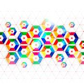 Polygon template vector design — Cтоковый вектор