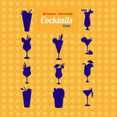 Set of cocktails icons. — Stock Vector