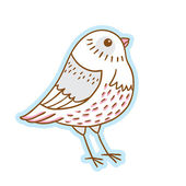 Cartoon style animals. Vector isolated object. Cartoon character. — Stock Vector