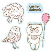 Kreslený styl zvířata. izolovaný objekt vektorové. kreslená postavička. — Stock vektor