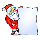 Santa Claus. Cartoon style. Isolated object, easy to edit. Element of design for winter holiday. Christmas. New Year. — Stock Vector