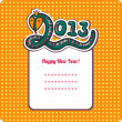 New Year's Eve greeting card with snake. — Stock Vector #33244121