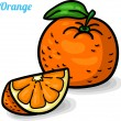 Orange, fresh fruits. — Image vectorielle