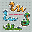 Funny New Year's Eve greeting card with snake. — Stock Vector #33244065