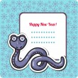 New Year's Eve greeting card with snake. — Stock Vector #33244069