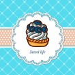 Cake cards template. — Stock Vector