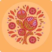 Decorative flower, circle — Stock Vector