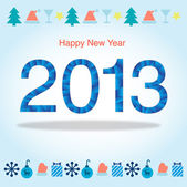 New 2013 year greeting card — Stock Vector