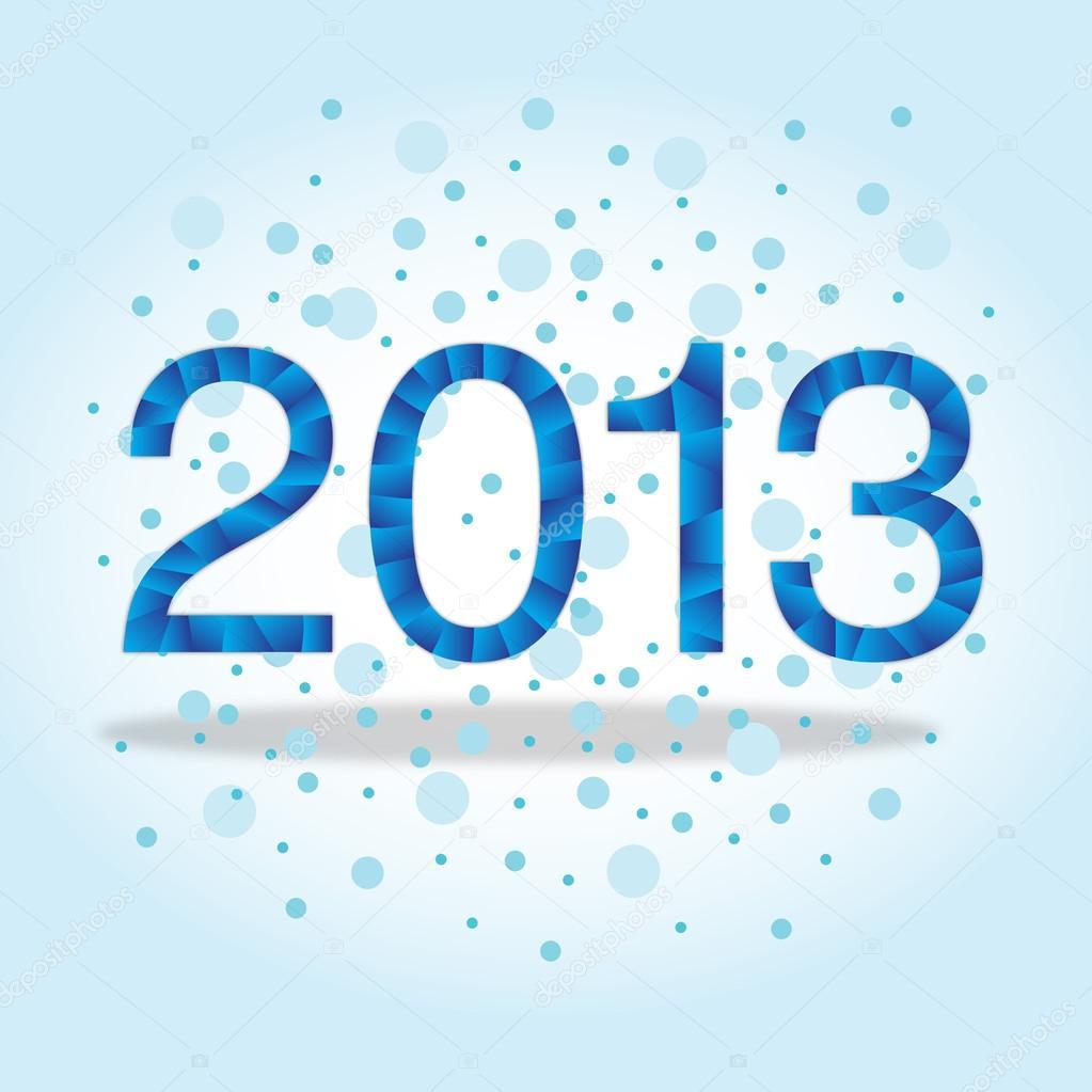 新年贺卡折纸风格制作的矢量图