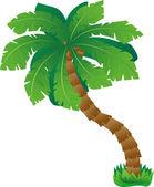 Grüne palme — Stockvektor