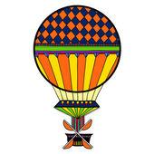 Красочный милый воздушный шар, аэростат. — Cтоковый вектор