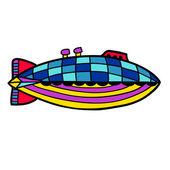 Colorful cute balloon, aerostat. — Stock Vector