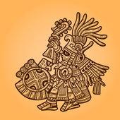 Person. Illustration of the Maya object. Maya design elements. Retro style — Vecteur