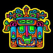 Person. Flyuro image of the Maya. Maya designs. Maya design elements. — Vecteur