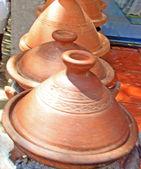 Moroccan ceramic cookware - tajines — Stock Photo