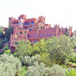 Kasbah in atlas mountains, Morocco - Stock Photo