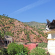 Mountain landscape, cat foreground — Photo #13507947