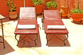 Two lounge chairs — Stock Photo