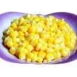 Stock Photo: Sweet corn in a little plate, close up