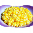 Sweet corn in a little plate, close up — Stock Photo