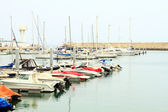 Port with boats in the morning (Marina port in Agadir, Morocco) — Stock Photo