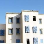 Typical white house in Agadir, Morocco — Stock Photo #18459437