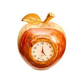Relógio de ônix isolado no fundo branco — Foto Stock