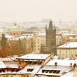 Panorama of Prague with its landmarks - Stock Photo