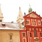St. George's Basilica in Prague Castle located in Prague, Czech — Stock Photo #21332117