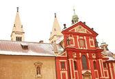St. George's Basilica in Prague Castle located in Prague, Czech — Stock Photo