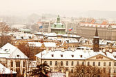Panorama of Prague with its landmarks — Stock Photo