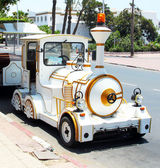 Little street locomotive in Agadir, Morocco — Foto de Stock