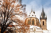 Famous Church of our lady before Tyn in Prague, Czech Republic — Stock Photo