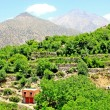 Stock Photo: Beautiful view of mountains and village (Atlas mountains, Moro