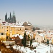 Stock Photo: Panoramof Prague in winter