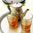 Mint tea: kettle and glass — Stock Photo #22257389