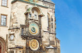 Famous astronomical clock in the Old Town square in Prague, Czec — Stock Photo