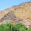 Stock Photo: Beautiful view of mountains (Atlas mountains, Morocco) and vil