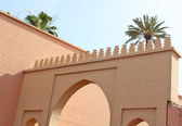 The gate of king's palace in Marrakesh, Morocco — Stock Photo