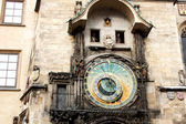 Famous astronomical clock (Old Town square in Prague, Czech Repu — Stock Photo